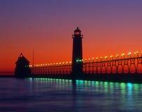 Großartiger Hafen-Leuchtturm lizenzfreie stockbilder