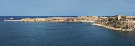 Großartiger Hafen und Fort Ricasoli Malta Stockbild