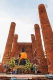 Großartiger Hall von Thammikarat-Tempel in Ayutthaya, in Thailand) Stockbilder