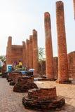 Großartiger Hall von Thammikarat-Tempel in Ayutthaya, in Thailand) Lizenzfreie Stockfotos