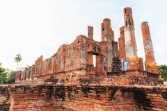 Großartiger Hall von Thammikarat-Tempel in Ayutthaya, in Thailand) Lizenzfreies Stockfoto