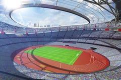 Großartiger Hintergrund 3d multisport Arena sonniger Tagesübertragen lizenzfreie stockfotos