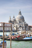 Großartiger Kanal und Santa Maria della Gruß-Basilika Stockfoto