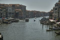 Großartiger Kanal in Venedig lizenzfreies stockbild