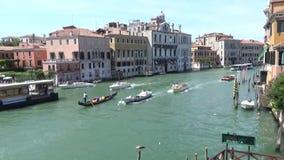 Großartiger Kanal in Venedig stock video