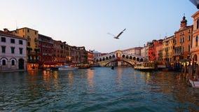 Großartiger Kanal in Venedig Stockfotografie