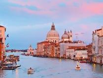 Großartiger Kanal in Venedig Stockbild