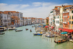 Großartiger Kanal in Venedig Stockfotos