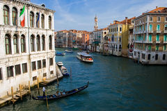Großartiger Kanal, Venedig stockfotos