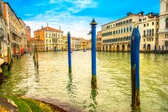 Großartiger Kanal, Venedig, Italien lizenzfreie stockbilder