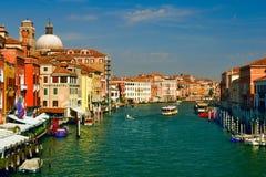 Großartiger Kanal in Venedig, Italien Stockfotografie