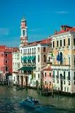 Großartiger Kanal in Venedig, Italien Lizenzfreies Stockfoto