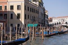 Großartiger Kanal Venedig Italien Lizenzfreies Stockfoto