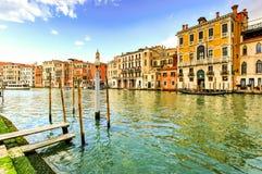Großartiger Kanal, Venedig, Italien Stockbilder