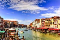 Großartiger Kanal, Venedig, Italien Stockbild