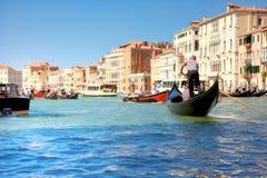 Großartiger Kanal in Venedig Italien Lizenzfreie Stockfotografie