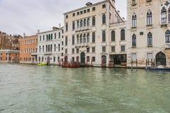 Großartiger Kanal in Venedig Italien Stockfotos