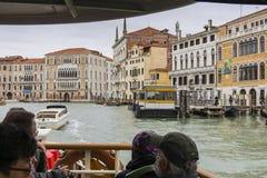 Großartiger Kanal in Venedig Italien Stockbilder