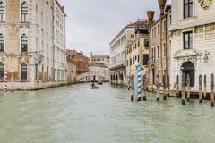 Großartiger Kanal in Venedig Italien Lizenzfreie Stockbilder