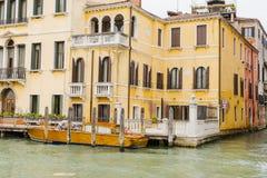 Großartiger Kanal in Venedig Italien Lizenzfreie Stockfotos