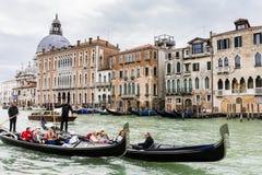 Großartiger Kanal in Venedig Italien Stockbild