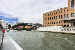 Großartiger Kanal in Venedig Italien Lizenzfreies Stockbild