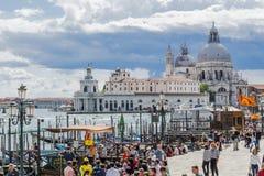 Großartiger Kanal in Venedig Italien Stockfotografie