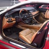 Großartiger Lusso Coupéarmaturenbrett 2013 BMWs Stockbild