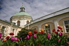 Großartiger Menshikov-Palast in Lomonosov, Russland Stockfotos