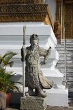 Großartiger Palast bangkok Staue des Kriegers Stockfotografie