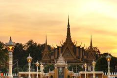 Großartiger Palast, Kambodscha. lizenzfreies stockbild