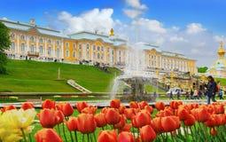 Großartiger Palast in Petergof Lizenzfreie Stockfotos