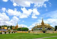 Großartiger Palast in Pnom Penh, stockfoto