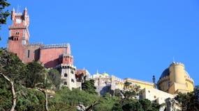 Großartiger Palast von pena im sintra Stockbilder