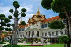 Großartiger Palastgarten Bangkok, Thailand stockbild