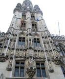 Großartiger Platz Brüssel - Kontrollturm Stockfoto