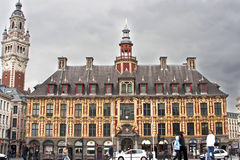 Großartiger Platz in der Mitte von Lille Lizenzfreie Stockfotografie