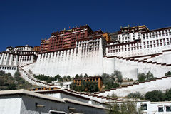 Großartiger potala Palast in Lhasa Tibet China Lizenzfreies Stockfoto