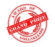 Großartiger Prize Stempel Lizenzfreies Stockfoto