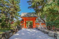 Großartiger Schrein Sumiyoshi in Osaka Lizenzfreies Stockfoto