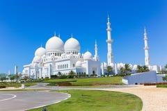 Großartiger Shaiekh Zayed Mosque - Abu Dhabi Lizenzfreies Stockfoto