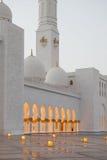 Großartiger Sheikh Zayed Mosque bei Sonnenuntergang, Abu Dhabi, UAE Lizenzfreie Stockfotos