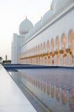 Großartiger Sheikh Zayed Mosque bei Sonnenuntergang, Abu Dhabi, UAE Stockfoto