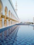 Großartiger Sheikh Zayed Mosque bei Sonnenuntergang, Abu Dhabi, UAE Lizenzfreie Stockbilder