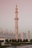 Großartiger Sheikh Zayed Mosque bei Sonnenuntergang, Abu Dhabi, UAE Stockbild