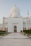 Großartiger Sheikh Zayed Mosque bei Sonnenuntergang, Abu Dhabi, UAE Lizenzfreie Stockfotografie