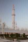 Großartiger Sheikh Zayed Mosque bei Sonnenuntergang, Abu Dhabi, UAE Stockfotografie