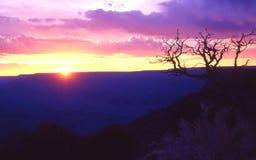 Großartiger Sonnenuntergang Stockbild
