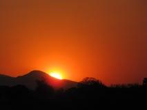 Großartiger Sonnenuntergang lizenzfreie stockfotos