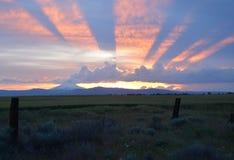 Großartiger Sonnenuntergang in Mittel-Oregon Lizenzfreies Stockfoto